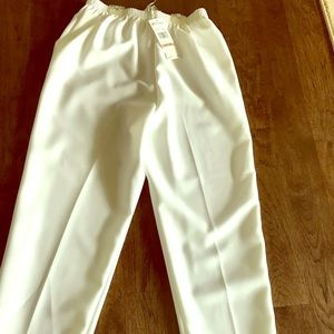 Women's white knit pants